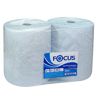 Купить полотенце бумажное 2-сл 350 м в рулоне*2 н330хd245 мм focus jumbo industrial белое hayat 1/1 (арт. 5043341) в Москве