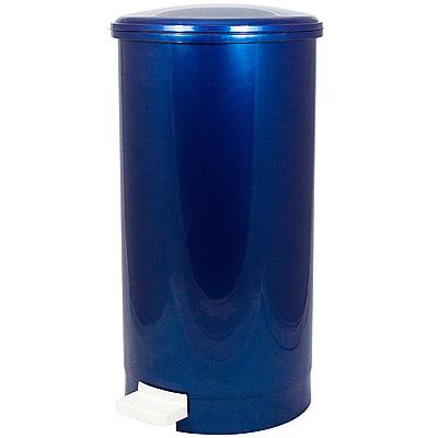 Купить контейнер мусорный круглый 21.4л н525хd270 мм с педалью пластик синий bora 1/6 (арт. 1185) в Москве