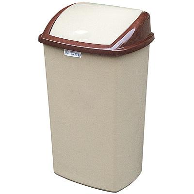Купить контейнер мусорный прямоугольный 50л дхшхв 400х340х680 мм с качающейся крышкой пластик коричневый bora 1/12 (арт. 844) в Москве