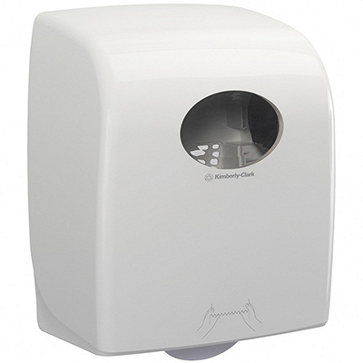 Купить диспенсер для рулонных полотенец дхшхв 297х248х374мм белый пластик kimberly-clark 1/1 (арт. 7375) в Москве