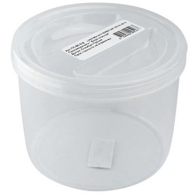 Купить контейнер круглый 1.27л н110хd140 мм пластик прозрачный bora 1/12 (арт. 516) в Москве