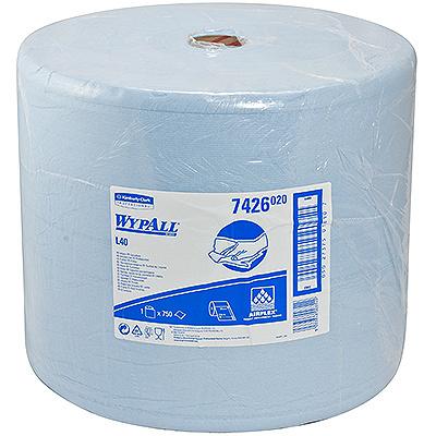 Купить материал протирочный бумажный 3-сл 285 м в рулоне н320хd380 мм wypall l30 синий kimberly-clark 1/1 (арт. 7426) в Москве