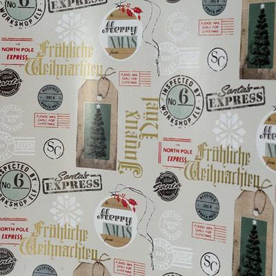 Купить бумага оберточная ш 700 мм 30 м в рулоне рождественская почта