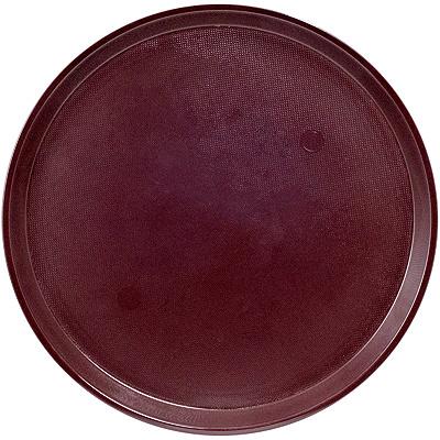 Купить поднос круглый d405 мм противоскользящий пластик коричневый bora 1/30 (арт. 241) в Москве