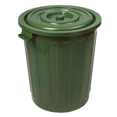 Купить бак мусорный круглый 73л н565хd500 мм пластик зеленый bora 1/7 (арт. 256) в Москве