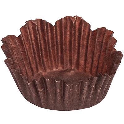 Купить капсула бумажная (тарталетка) корона н19хd30 мм коричневая 1/2000/20000 в Москве