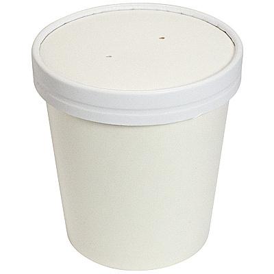 Купить контейнер бумажный 450мл н99хd98 мм для горячего, холодного c крышкой белый 1/50/500 в Москве
