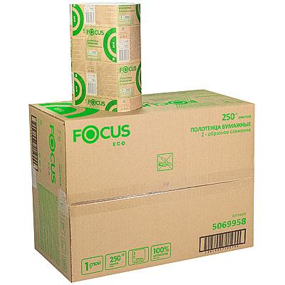 Купить полотенце бумажное листовое 1-сл 250 лист/уп*12 215х240 мм z-сложения focus extra белое hayat 1/1 (арт. 5044994) в Москве