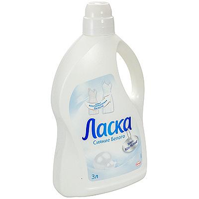 Купить средство для стирки жидкое 3л для белых тканей ласка henkel 1/6 в Москве