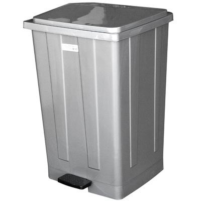 Купить бак мусорный прямоугольный 85л дхшхв 440х410х705 мм с педалью пластик темно-серый bora 1/3 (арт. 643) в Москве