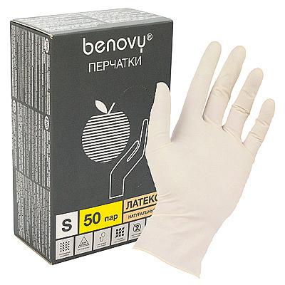 Купить перчатки одноразовые латексные s 100 шт/уп опудренные бежевые