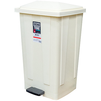 Купить контейнер мусорный прямоугольный 48л дхшхв 420х375х630 мм с педалью пластик кремовый bora 1/1 (арт. 642) в Москве