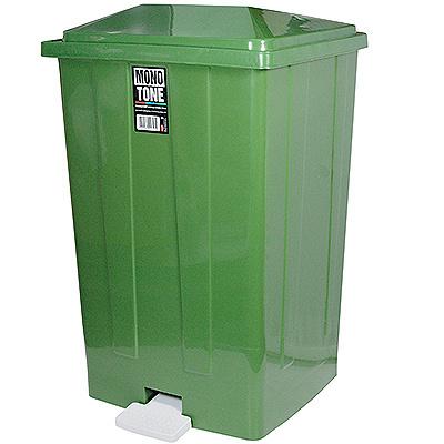 Купить бак мусорный прямоугольный 85л дхшхв 440х410х705 мм с педалью пластик зеленый bora 1/3 (арт. 643) в Москве