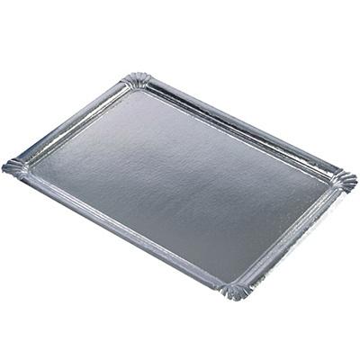 Купить поднос сервировочный дхш 455х340 мм прямоугольный картон серебристый papstar 1/10/100 (арт. 11331) в Москве