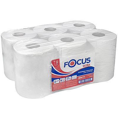 Купить полотенце бумажное 2-сл 125 м в рулоне*6 с центр вытяжением н207хd160 мм focus extra jumbo белое hayat 1/1 (арт. 5036772) в Москве