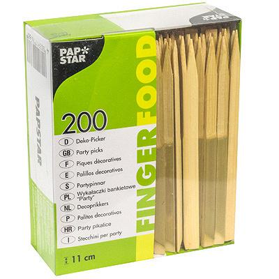 Купить пика декоративная натура н110 200 шт/уп для канапе бамбук papstar 1/12 (арт. 16768) в Москве