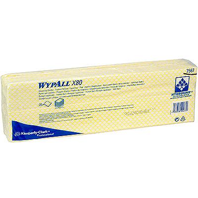 Купить материал нетканый в листах 1-сл 25 шт дхш 420х350 мм wypall x80 желтый kimberly-clark 1/10 (арт. 7567) в Москве