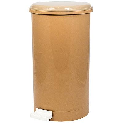 Купить контейнер мусорный круглый 11л н415хd230 мм с педалью пластик коричневый bora 1/6 (арт. 1186) в Москве