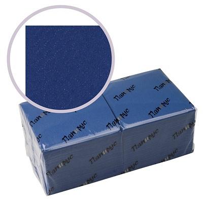 Купить салфетка бумажная синяя 33х33 см 3-сл 250 шт/уп папирус 1/6 в Москве