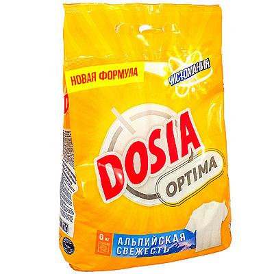 Купить порошок стиральный 6кг dosia optima альпийская свежесть в п/п benckiser 1/3 в Москве