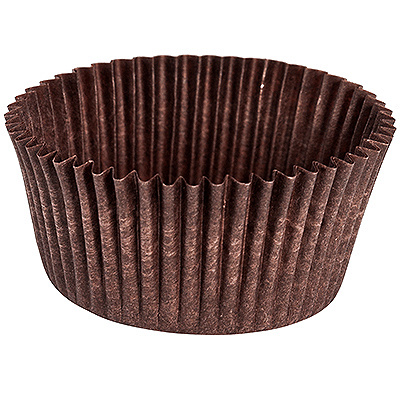 Купить капсула бумажная (тарталетка) круглая н26хd40 мм коричневая 1/2000/30000 в Москве