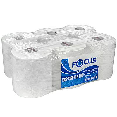 Купить полотенце бумажное 1-сл 280 м в рулоне*6 с центр вытяжением н195хd180 мм focus jumbo белое hayat 1/1 (арт. 5036889) в Москве