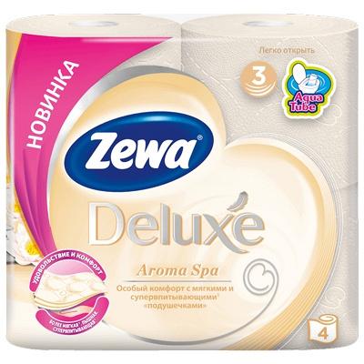 Купить бумага туалетная 3-сл 4 рул/уп zewa delux aroma spa 1/14 в Москве