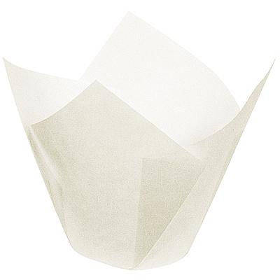 Купить капсула бумажная (тарталетка) тюльпан н85хd50 мм белая papstar 1/200/1600 (арт. 86510) в Москве