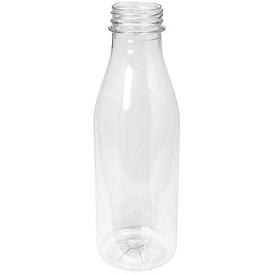 Купить бутылка 500мл с широким горлом без пробки с плоским дном pet прозрачный 1/100 в Москве
