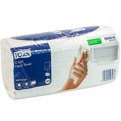 Купить полотенце бумажное листовое 2-сл 120 лист/уп 240х275 мм с-сложения tork h3 universal (арт.471111) натурально-белое sca 1/20 (арт. 95316) в Москве