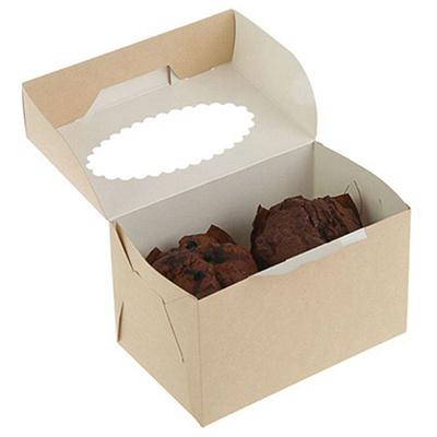 Купить коробка для пирожных дхшхв 100х160х100 мм с окном картон крафт gdc 1/25/200 в Москве