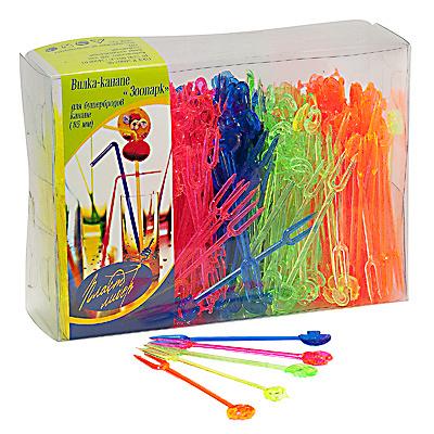 Купить пика декоративная крюшон/зоопарк н80 мм 400 шт/уп для канапе пластик разноцветная пласт-лидер 1/20 в Москве