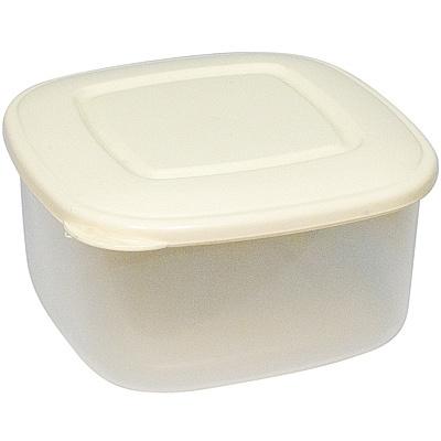 Купить контейнер квадратный 0.85л дхшхв 140х140х70 мм крышка бежевая пластик bora 1/72 (арт. 803) в Москве