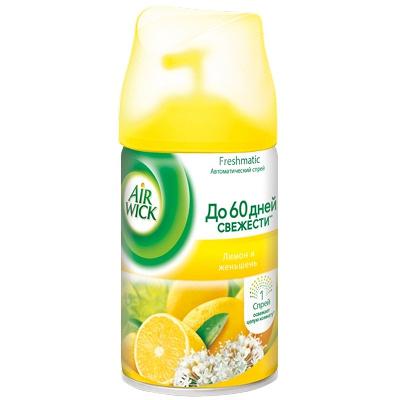 Купить освежитель автоматический 250мл air wick сменный баллон лимон и женьшень benckiser 1/6 в Москве