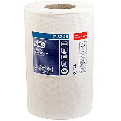 Купить полотенце бумажное 1-сл 120 м в рулоне с центр вытяжением н198хd130 мм tork reflex m3 белое sca 1/12 (арт. 473246) в Москве