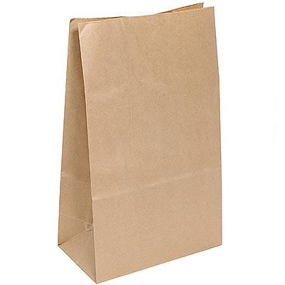 Купить пакет бумажный дхшхв 220х120х290 мм с прямоугольным дном крафт
