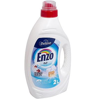 Купить средство для стирки жидкое 2л для белых тканей delux white enzo 1/6 в Москве