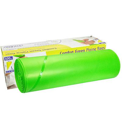 Купить мешок кондитерский одноразовый н530 мм 100 шт в рулоне зеленый 1/10 в Москве