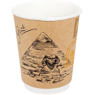Купить стакан бумажный 250мл d80 мм 2-сл для горячих напитков города мира крафт pps 1/20/500 в Москве