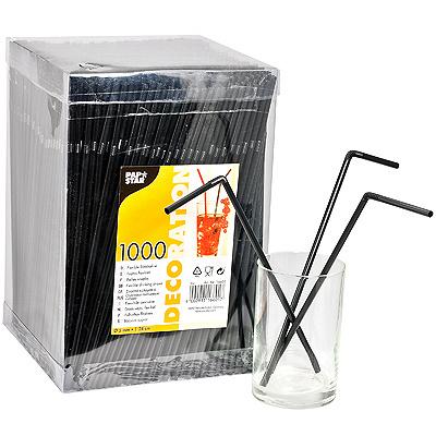 Купить соломка (трубочка) для коктейля н240хd5 мм 1000 шт/уп pp черная papstar 1/6 (арт. 16601) в Москве