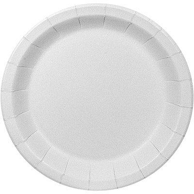 Купить тарелка бумажная d180 мм ламинированная с бортом картон белый pps 1/50/500 в Москве