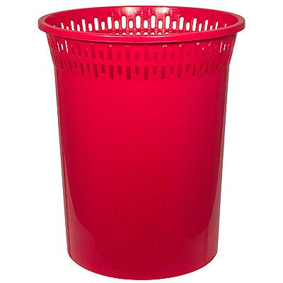 Купить корзина мусорная 8л н29хd245 мм пластик красный bora 1/48 (арт. 046) в Москве