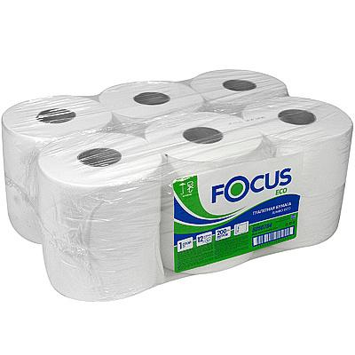 Купить бумага туалетная 1-сл 200 м в рулоне*12 н95хd180 мм focus jumbo eco белая hayat 1/1 (арт. 5050784) в Москве
